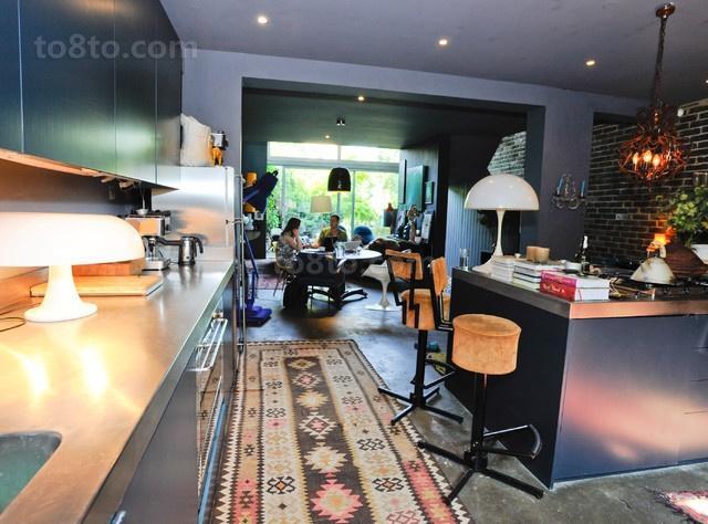 光彩夺目的维多利亚风格别墅开放式厨房餐厅