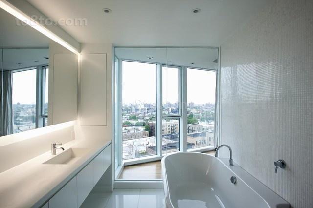 17万打造宜家现代风格卫生间装修效果图大全2012图片