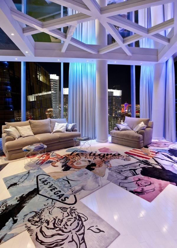 现代公寓室内隔断玻璃门图片