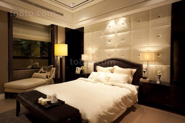 三居室卧室背景墙装修效果图大全2013图片