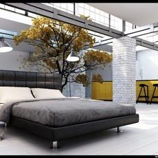 141平米混搭复式卧室装修效果图片大全
