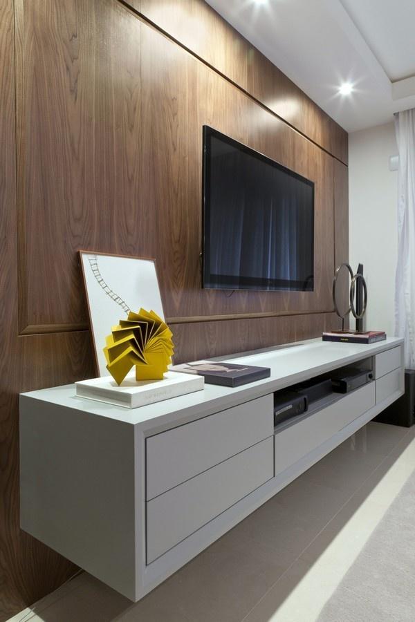 现代时尚的小户型客厅电视背景墙装修效果图大全