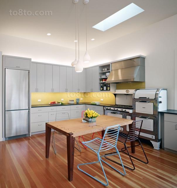 开放式厨房宜家橱柜装修效果图