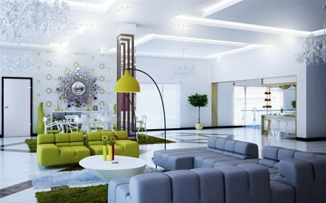 130万打造浪漫现代风格别墅客厅吊顶装修效果图大全2012图片