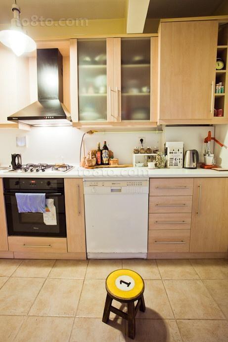 16万打造浪漫欧式风格复式厨房橱柜装修效果图大全2012图片