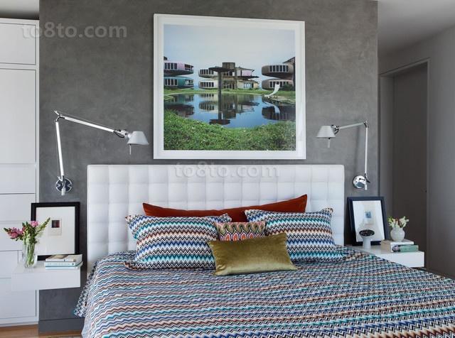 17万打造宜家现代风格卧室背景墙装修效果图大全2012图片