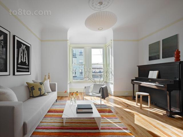 30万打造宜家现代风格三居客厅吊顶装修效果图大全2014图片