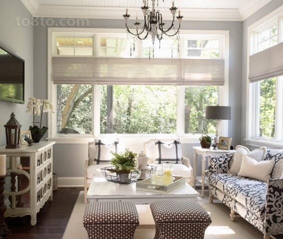 2室1厅温馨舒适的欧式客厅飘窗装修效果图