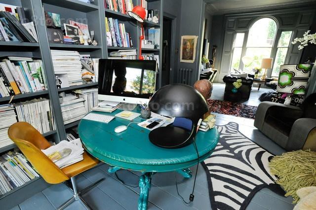 光彩夺目的维多利亚风格别墅家庭书房装修效果图