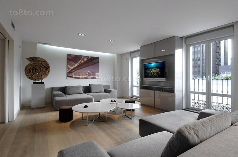 13万打造宜家简约风格客厅装修图片