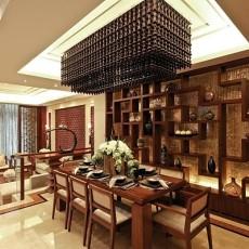中式风格宜家餐厅博古架装修图片