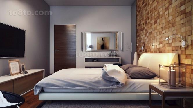 17万打造浪漫现代风格二居卧室背景墙装修效果图大全2014图片