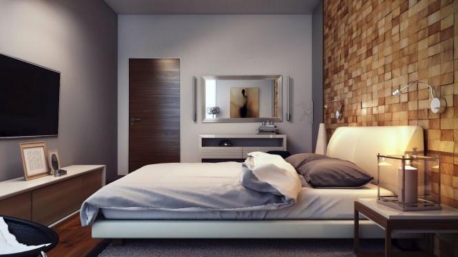 142平米混搭复式卧室装饰图片欣赏