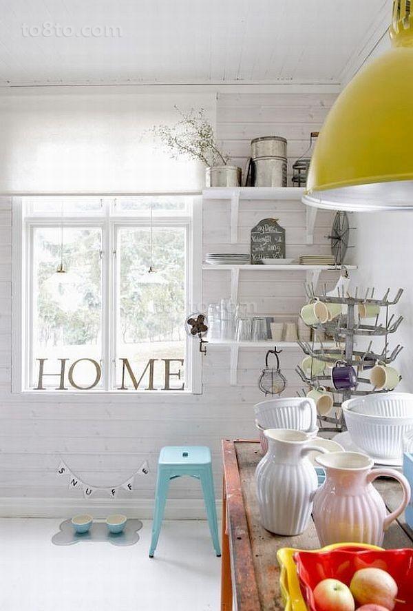 14万打造纯白欧式风格二居厨房橱柜装修效果图大全2014图片