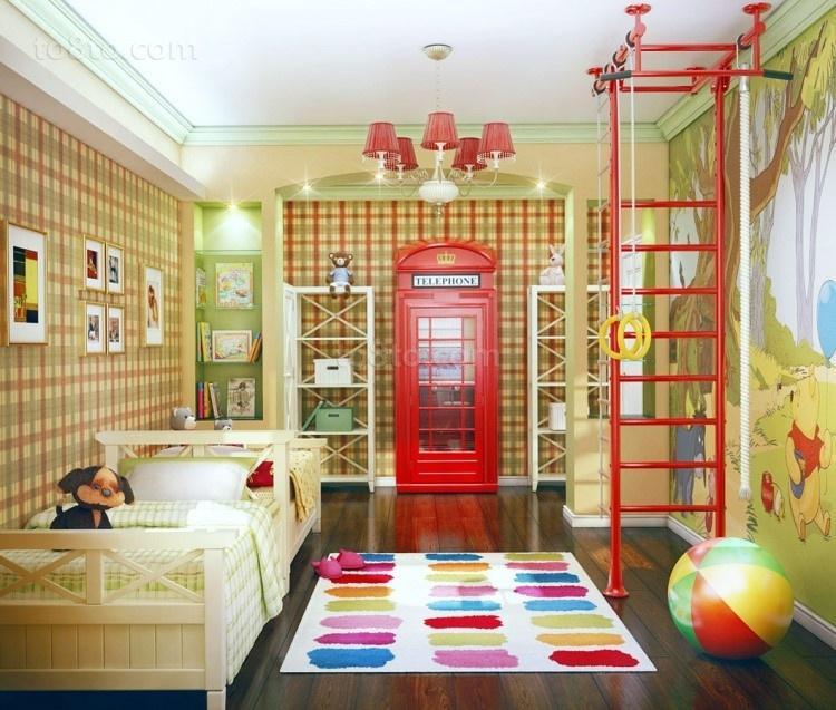 运动宝宝儿童房装修效果图大全2014图片