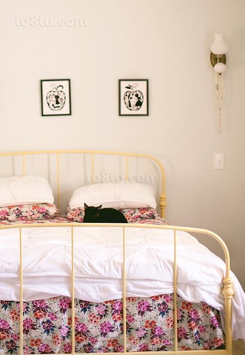 9万打造田园美式风格小户型卧室装修效果图大全2012图片