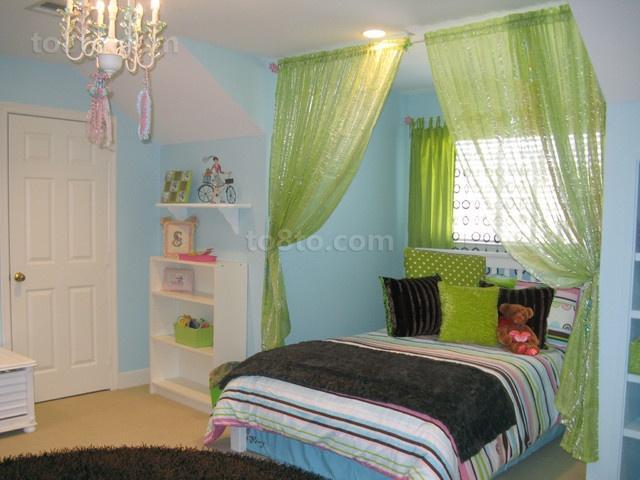欧式小户型卧室窗帘装修效果图