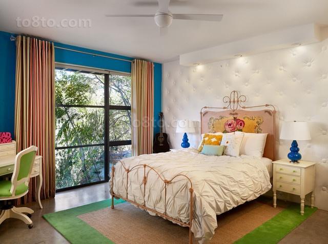 16万打造华美地中海风格二居卧室背景墙装修效果图大全2012图片