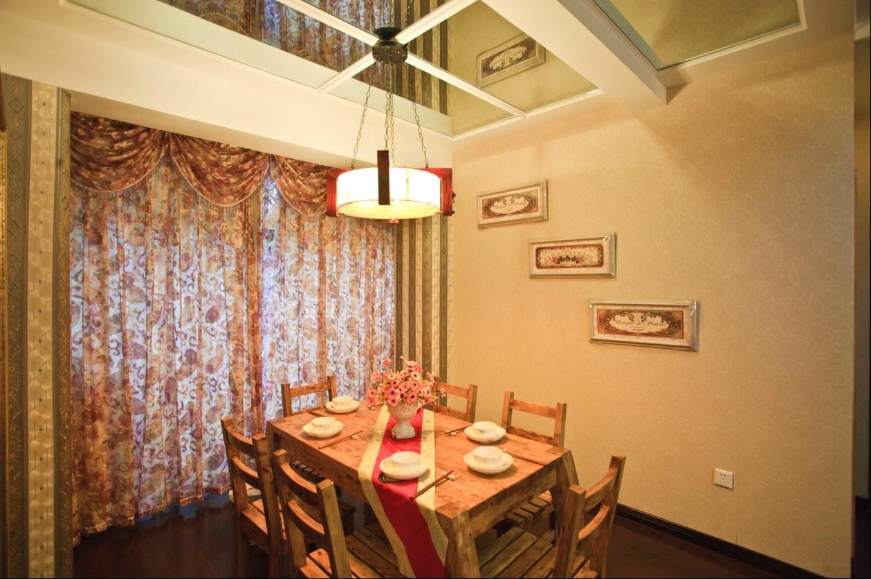 3室2厅1卫餐厅窗帘装修效果图