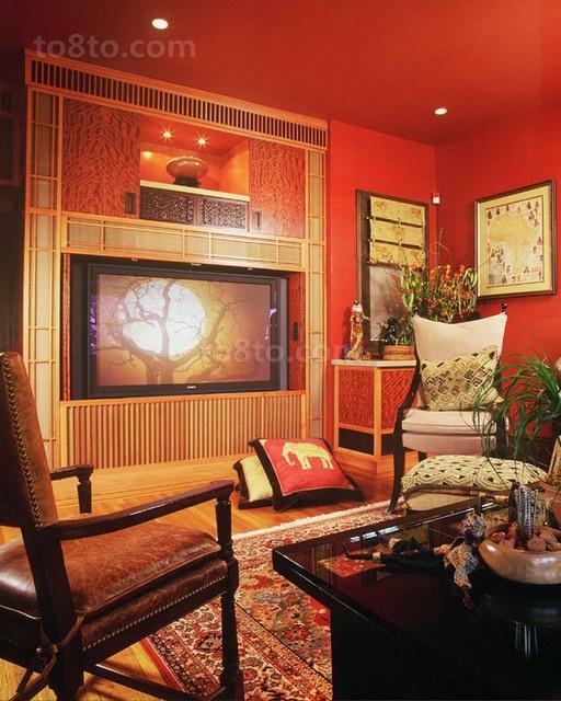 新中式客厅背景墙装修效果图大全2013图片