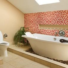 107平方三居卫生间混搭装修效果图片