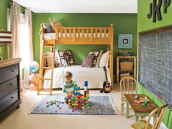 绿色宁谧的两室一厅儿童房装修效果