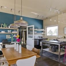 面积85平小户型厨房混搭装修图片欣赏