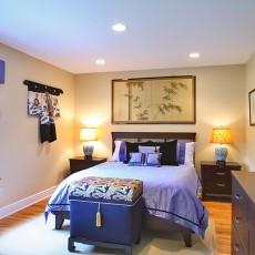 面积89平小户型卧室混搭装修设计效果图片大全