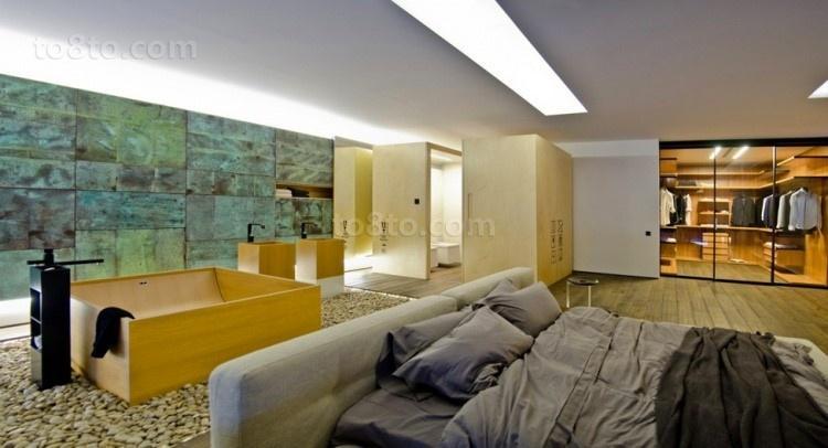 高档别墅现代风格主卧室装修效果图