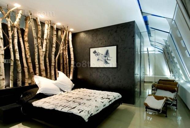 简约清爽的二居室卧室装修效果图