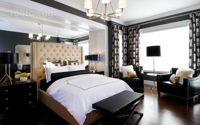 17万打造温馨奢华欧式风格二居卧室吊顶装修效果图大全2012图片