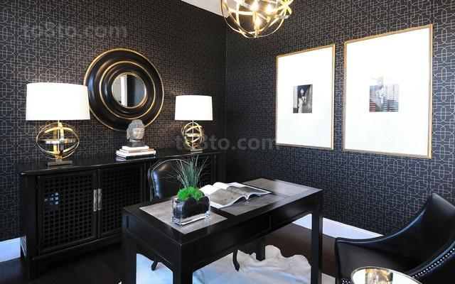 17万打造温馨奢华欧式风格二居书房装修效果图大全2012图片