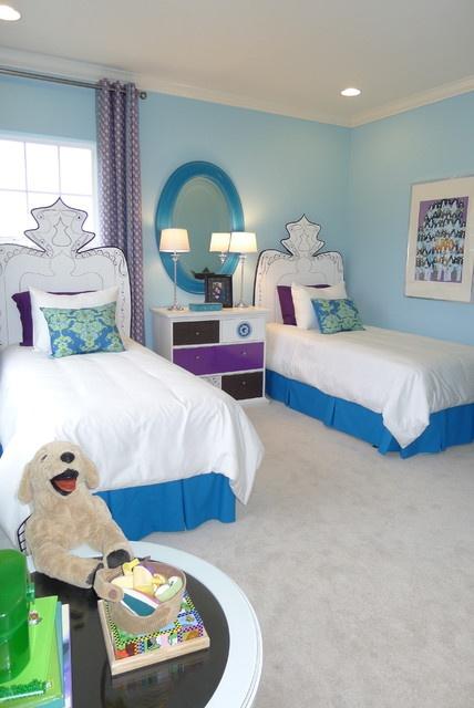 地中海风格二居儿童房间卧室装修效果图大全