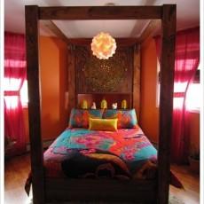 102平方三居卧室混搭装修实景图片