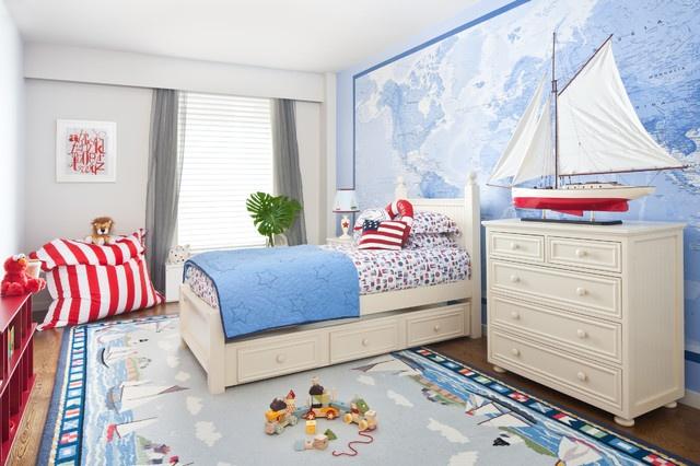 地中海风格二居儿童房装修效果图大全