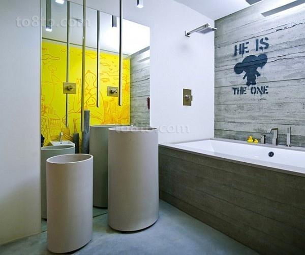 高档别墅现代风格主卫生间装修效果图