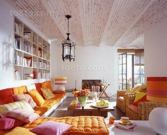 18万打造清新东南亚风格客厅吊顶装修效果图大全2012图片