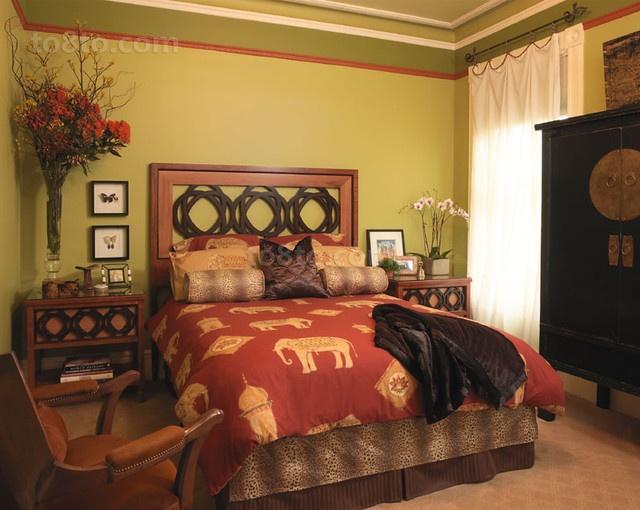 17万打造儒雅中式风格卧室装修效果图大全2012图片