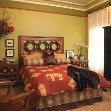 2018精选88平米二居卧室混搭装修设计效果图片大全