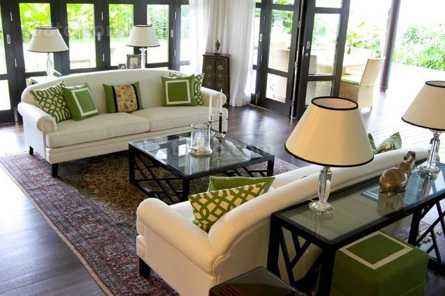 田园风格农村别墅浪漫的客厅装修效果图