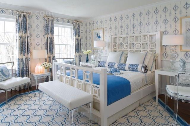 16万打造华美地中海风二居卧室背景墙装修效果图大全2012图片