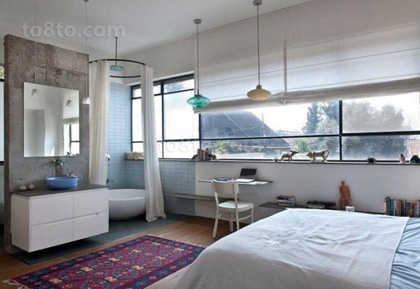 北欧清新的别墅主卧室装修效果图大全2014图片