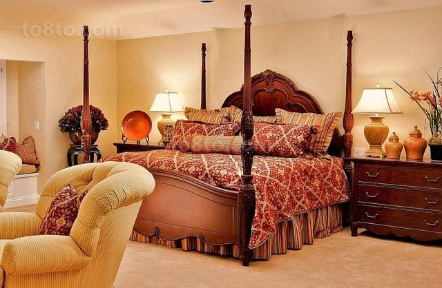华丽的美式二居房装修效果图