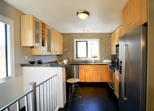 热门面积126平复式厨房混搭装修效果图片欣赏