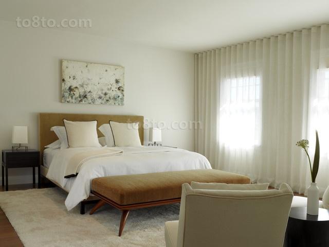 17万打造现代风格二居卧室窗帘装修效果图大全2012图片