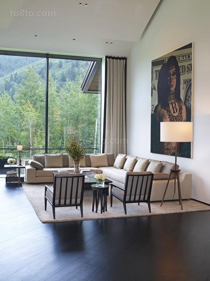 150万打造豪华现代风格客厅飘窗装修效果图大全2014图片