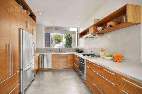 130万打造浪漫温馨欧式风格厨房橱柜装修效果图大全2012图片