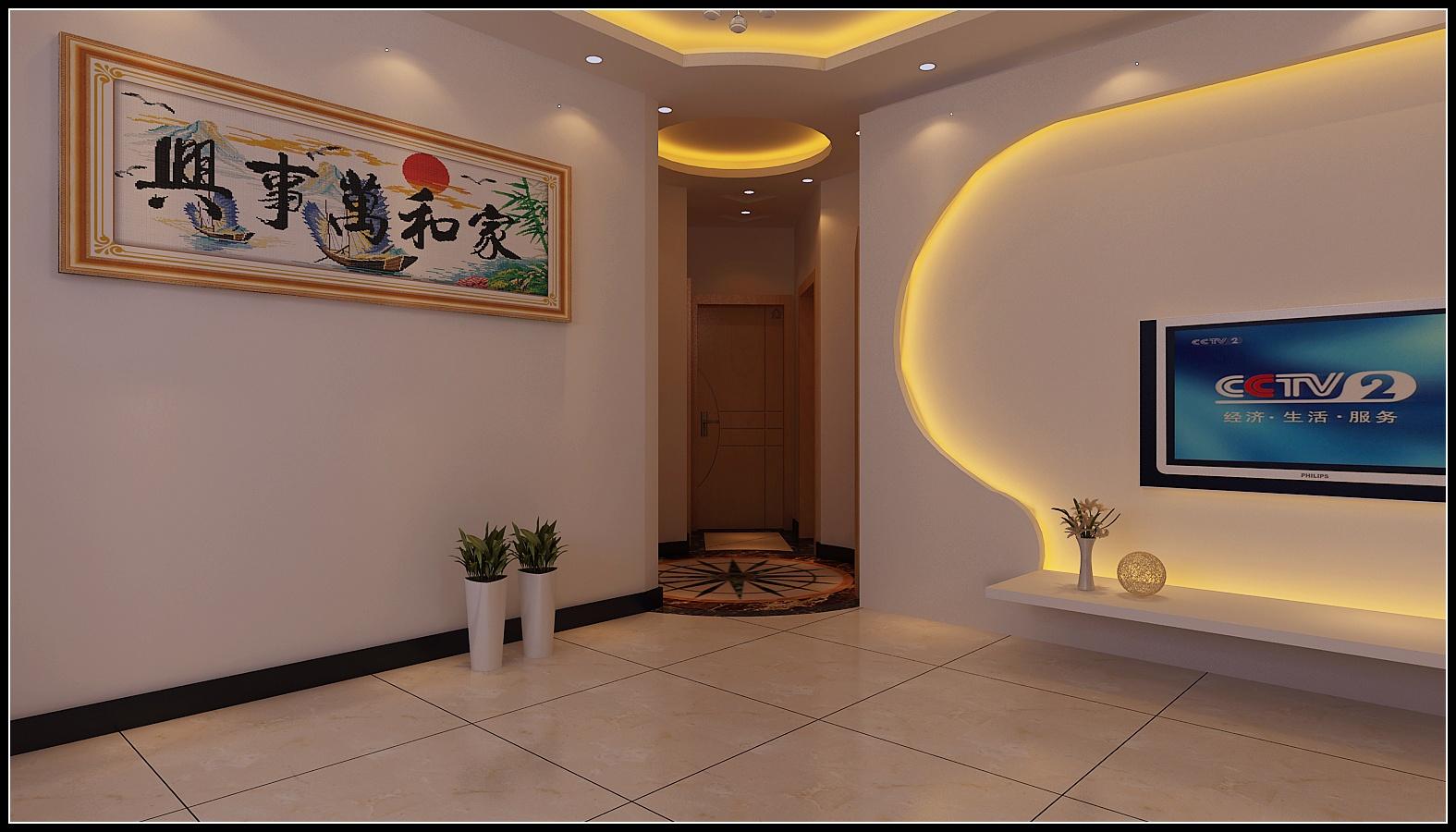 简约清雅设计客厅效果图