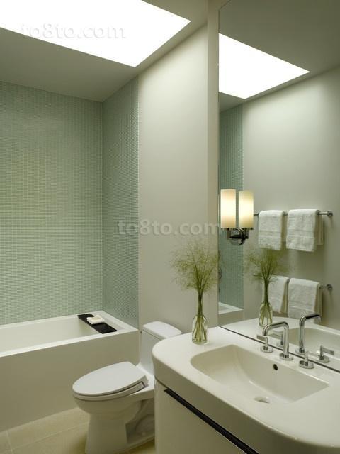17万打造现代风格二居卫生间装修效果图大全2012图片