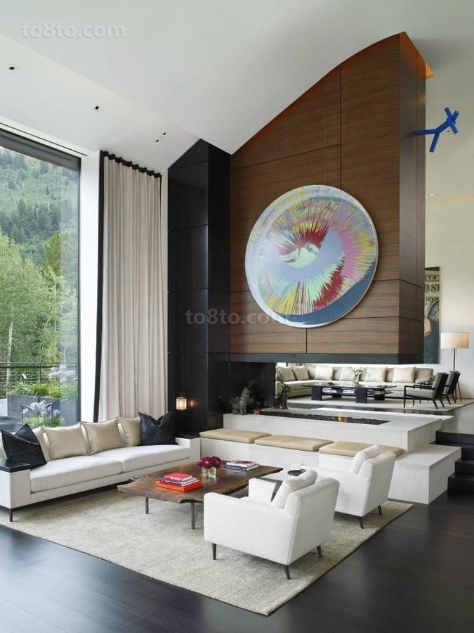 150万打造豪华现代风格客厅背景墙装修效果图大全2014图片